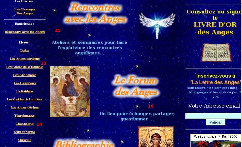 faux sites sur les anges